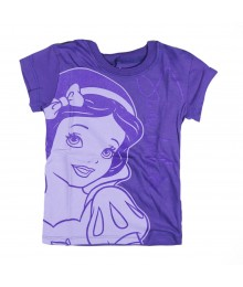 Disney Princess Snow White Purple Glitter Girls Tee