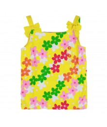 Gymboree Yellow Bow Floral Print Tank Top