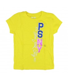 Aeropostale Yellow Vertical Psny Girls Graphic Tee Little Girl