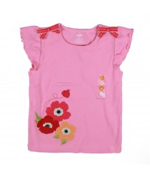 Gymboree Pink Bow Lady Bug Poppy Girls Tee Little Girl