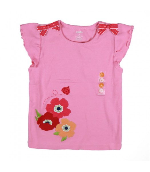 Gymboree Pink Bow Lady Bug Poppy Girls Tee Little Girl