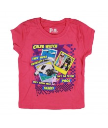 Aeropostale Pink Celeb Watch Girl Tee