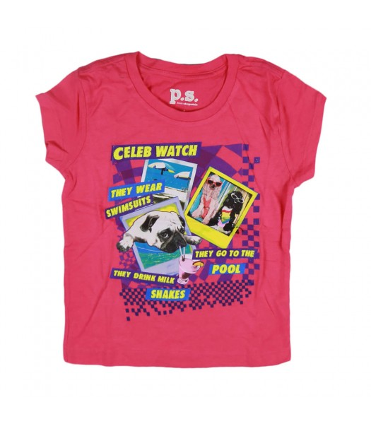 Aeropostale Pink Celeb Watch Girl Tee