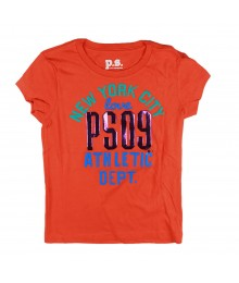 Aeropostle Orange New York City Love Girl Tee