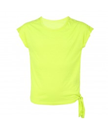 Jessica Simpson Neon Green Tie Blouse Wt Lacy Shoulder
