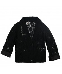 Knitwork Black Lace Jacket Big Girl