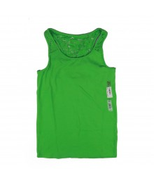 Sonoma Green Lace Back Tank Top