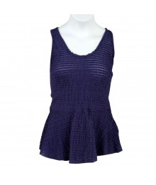 Jessica Simpson Blue Nori Peplum Top Juniors