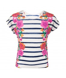 RansomFloral Mirror Print Striped Tee