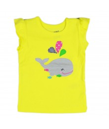 "Carters Yellow ""Whale"" Tank Top Baby Girl"