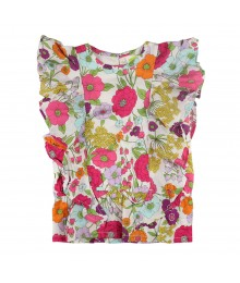 Crazy 8 Multi Floral Ruffle Top