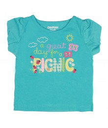 Oshkosh Blue Great Day For Picnic Tee Baby Girl