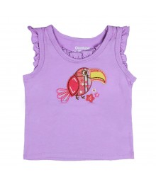 Oshkosh Purple Toucan Flutter Sleeve Tank