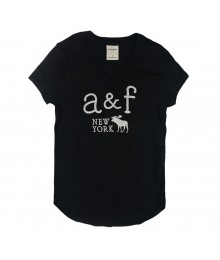 Abercrombie Black V Neck Girls Tees