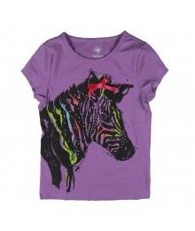 J Khaki Purple Girls Tees Wt Horse Wt Bow