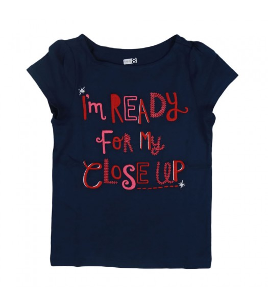 """Crazy8 Navy """"Im Ready For My Close Up"""" Tee"""