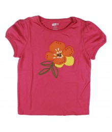 Crazy 8 Pink Girls Tee Wt Sequined Petal Design