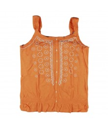 Mudd Orange Peasant Girls Tank Top Wt Elastic Waist Big Girl