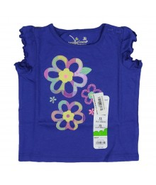 Jumping Beans Blue Wt Flower Embdry Baby Girl