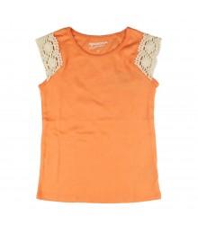 Arizona Orange Tee Wt Crochet-Trim Tank Top
