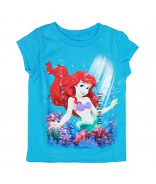 Disney Turquoise Ariel Watery Girls Tee