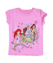 Disney Princess Pink Swirl Graphic Girls Tee