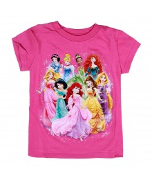 Disney Princess Pink Princess Glam Graphic Girls Tee