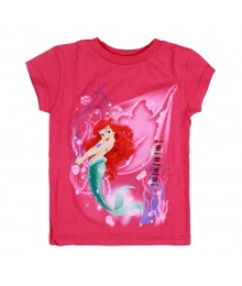 Disney Pink Ariel Graphic Girls Tee Little Girl