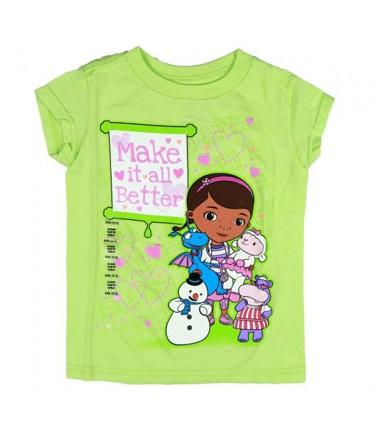 Disney Lime  Doc Mcstuffins Graphic Girls Tee
