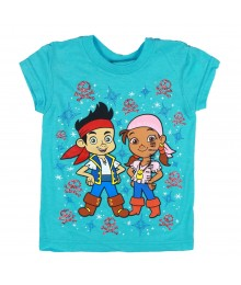 Disney Sky Blue Jake & Izzy Graphic Girls Tee
