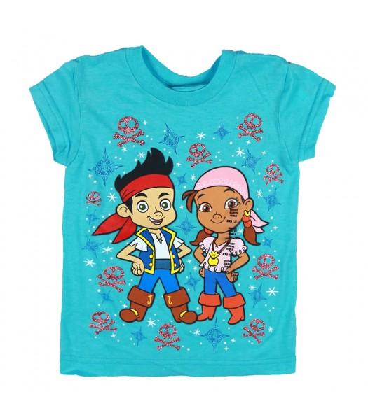 Disney Sky Blue Jake & Izzy Graphic Girls Tee