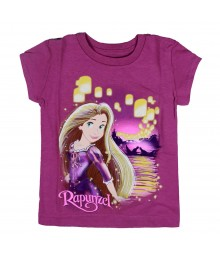 Disney Purple Rapunzel Lantern Graphic Girls Tee