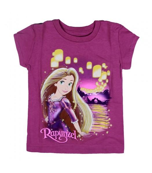 Disney Purple Rapunzel Lantern Graphic Girls Tee