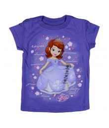 Disney Lilac Sofia Graphic Girls Tee