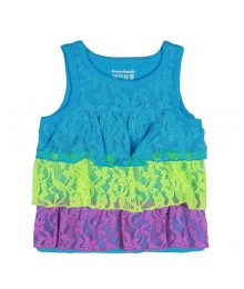 Garanimals Turq/Lemon/Purple Tiered /Aced Tanl Top Baby Girl