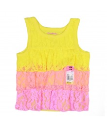 Garanimals Yellow/Neon Orange/Pink Tiered Laced Tank Top