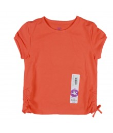Jk Girls Orange Basic Tee Little Girl