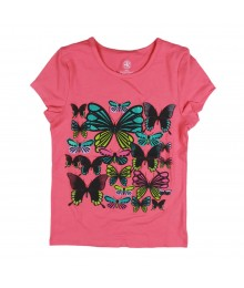 J Khaki Peach/Coral Tee Wt Embossed Butterfly