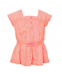 Carters Neon Pink/Orange U Neck Blouse
