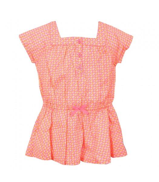 Carters Neon Pink/Orange U Neck Blouse