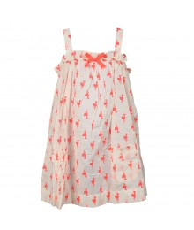 Carters White Swing Too Wt Neon Flamingo Print