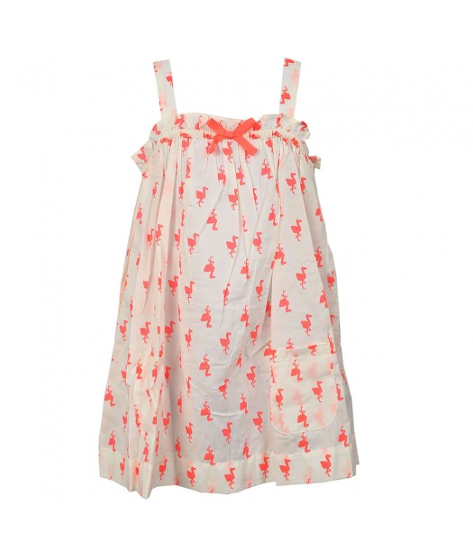 Carters White Swing Too Wt Neon Flamingo Print