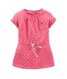 Carters Pink Polka Dot Wt Draw String Belt