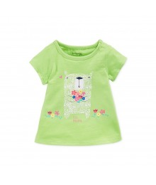 First Impressions Green Lime Wt Bear Bouquet Girls Tees