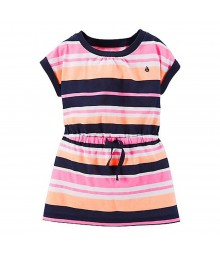 Carters Orange/Pink/Black Stripped Jersey Tunic