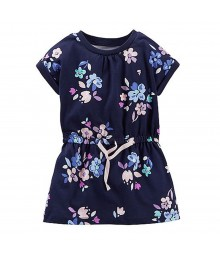 Carters Navy Jersey Tunic Wt Floral Print