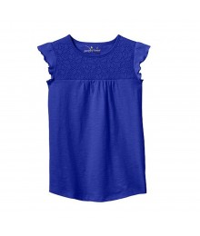 Jumping Beans Purple Tee Wt Lace Yoke