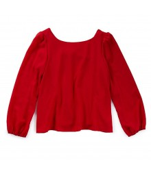 GB Red Girls Blouse With Back Bow
