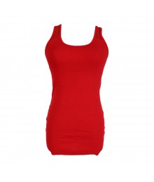 Arizona Red Tank Top Wt Lace Back Juniors