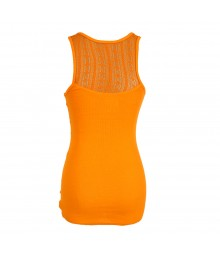 Arizona Orange Tank Top Wt Lace Back Juniors